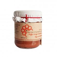 Eva Beauty - Masque argile rouge et pépins de figue de barbarie 220 gr - Evabeauty