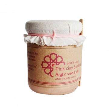 Masque argile rose et café