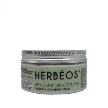 Herbèos - Crème déodorante aux Poudres naturelles et huiles essentielles - Herbeos