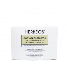 Herbèos - Savon surgras hydratant et clarifiant - Herbeos