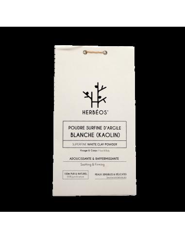 Herbèos - Argile Blanche Surfine 100gr - Herbeos