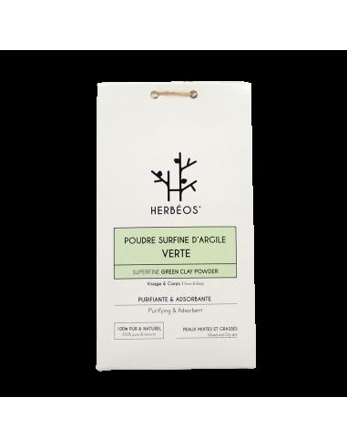 Herbèos - Argile Verte Surfine 200gr - Herbeos
