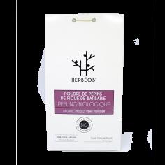 Herbèos - Peeling Biologique - Poudre de pépins de figue de barbarie 100gr - Herbeos