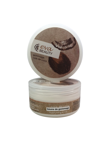 Eva Beauty - Beurre de gommage noix de coco - Evabeauty