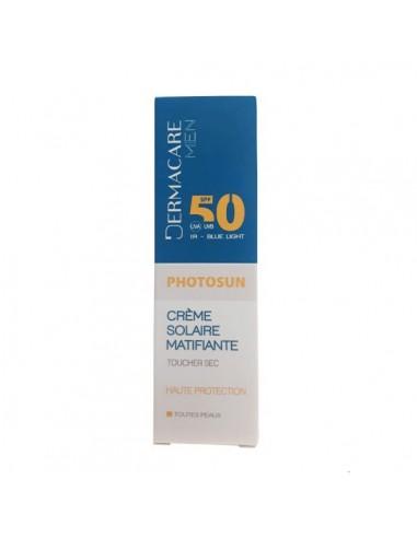 Dermacare - DERMACARE PHOTOSUN MEN Crème Matifiante Toucher Sec SPF50+