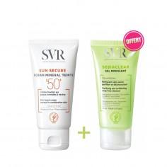 SVR - SVR Trousse Sun Secure Ecran Minéral Teinté SPF50+ Gel Moussant 50ml Offert - Peaux normales à mixtes