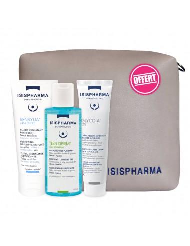 Isis Pharma - ISISPHARMA Trousse Glyco A 12% + Sensylia Légère + Ten Derm Sensitive Gel 100 Ml Offert