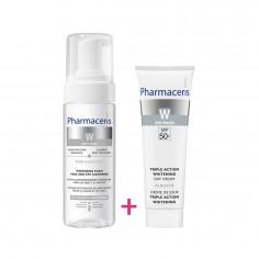 Pharmaceris - Pharmaceris Pack Eclaircissant Mousse nettoyante +Crème De Jour Spf 50+