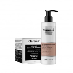 Clarenia - CLARENIA Gel Nettoyant Double Action + Crème Nuit Eclaircissante PNS