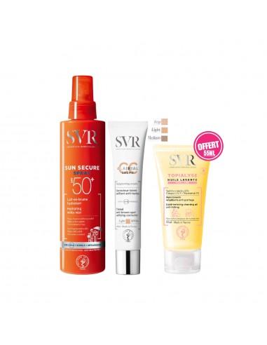 SVR - SVR SUN SECURE SPRAY LAIT-EN-BRUME SPF50+ +SVR CLAIRIAL CC Crème LIGHT SPF50+