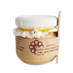 Eva Beauty - Masque argile jaune et huile d'argan 130gr - Evabeauty